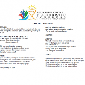 51st IEC Hymn Lyrics