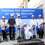 IEC Pavilion Topping Off Ceremony