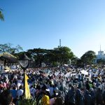 Pilgrims and volunteers gather at the 51st IEC opening mass
