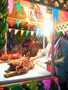 Parishioners were served with Cebu's Best Lechon (roasted pig)