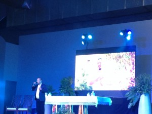 Composer and Lyricist of the Official IEC 2016 Hymn Jay-arr Librando sings his musical piece one more time.